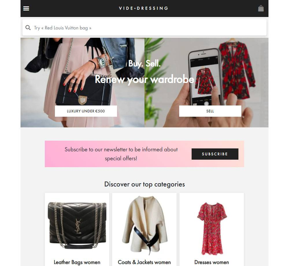 videdressing designer thrift online store