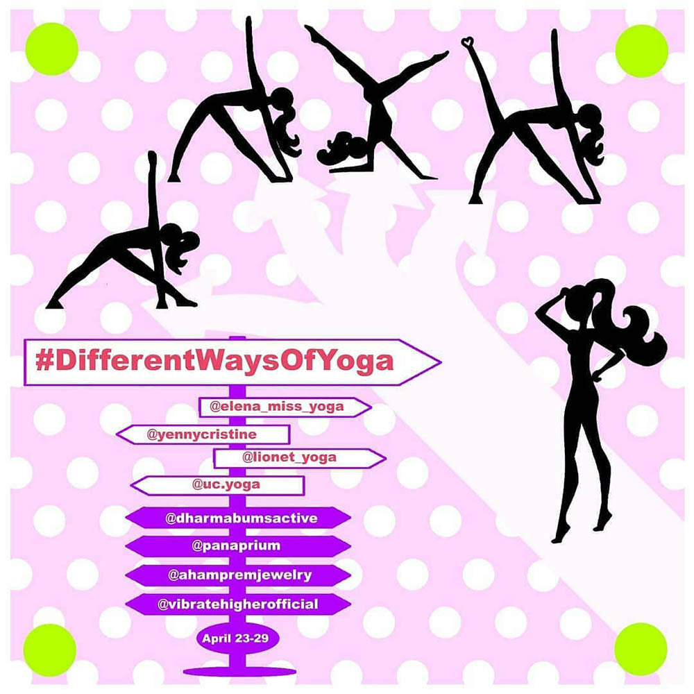 Different Ways of Yoga Challenge flyer