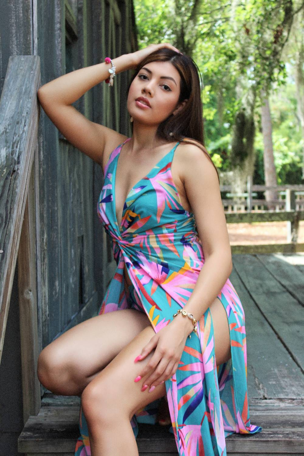 colorful woman dress
