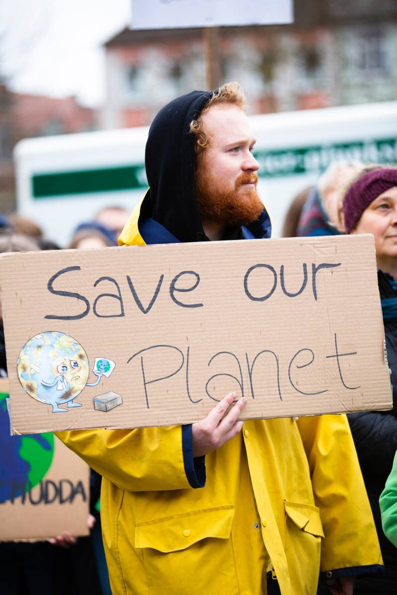 save our planet demonstration pin