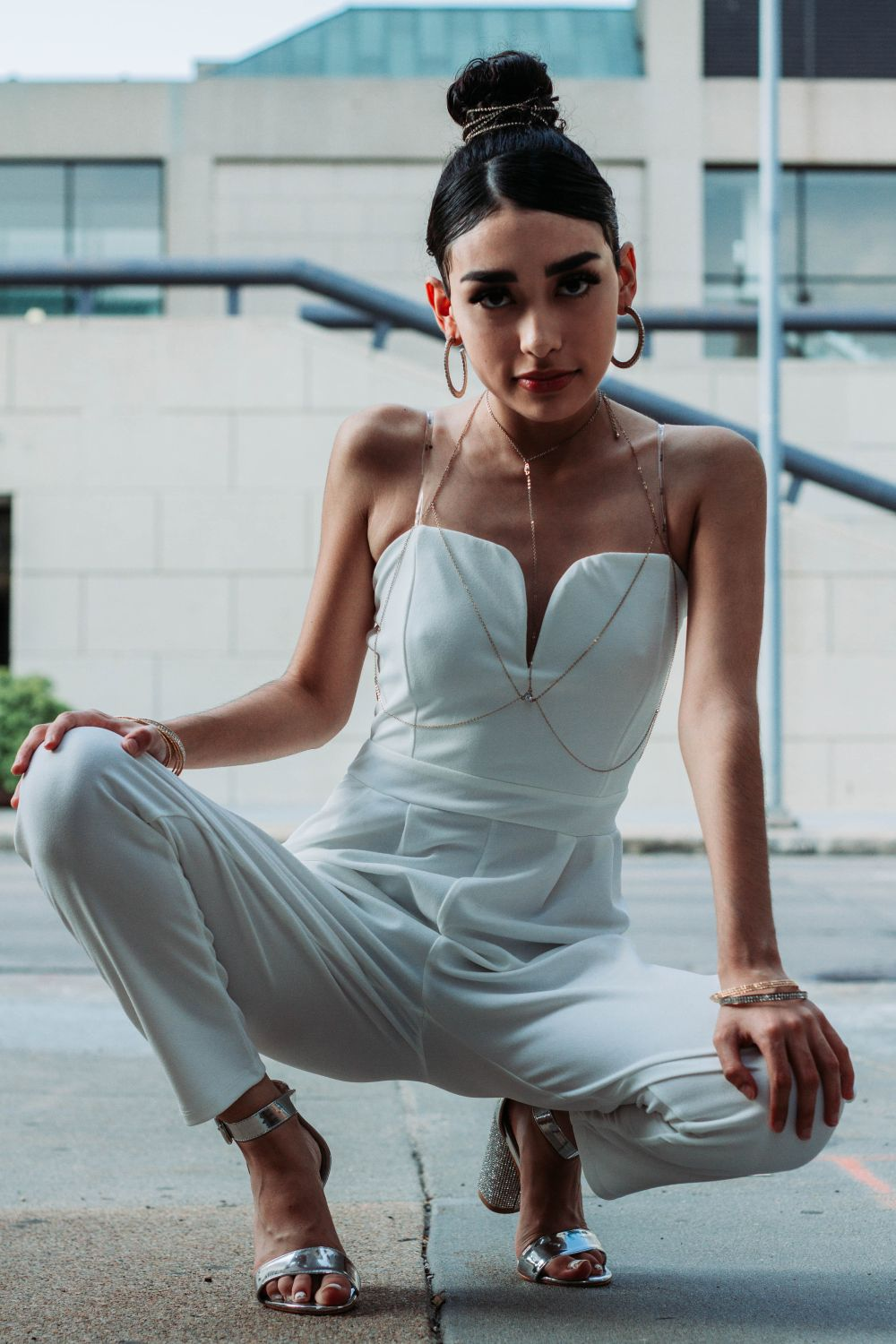 white women jumpsuit