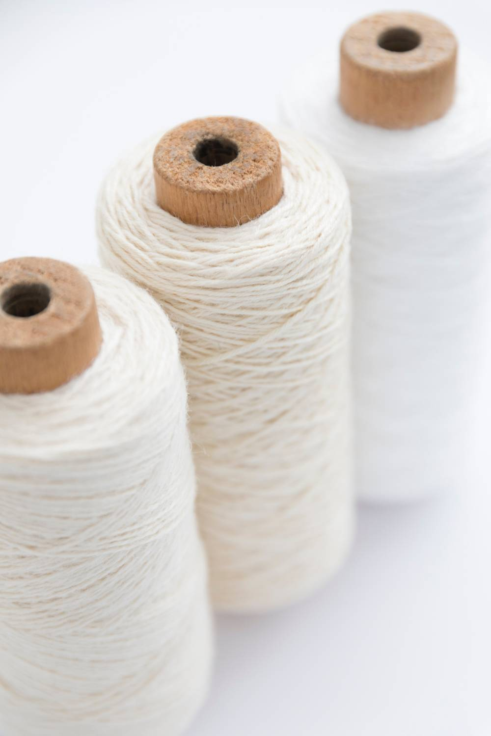 recycled cotton fiber yarn spool