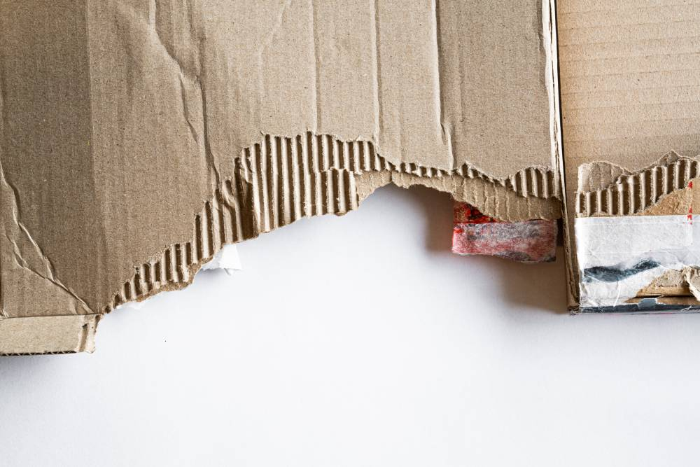reduce ecological footprint recycled cardboard