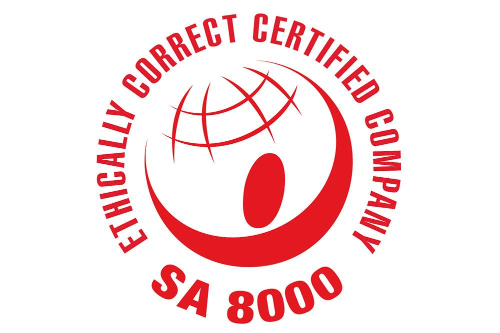 sa8000 certification ethical label logo