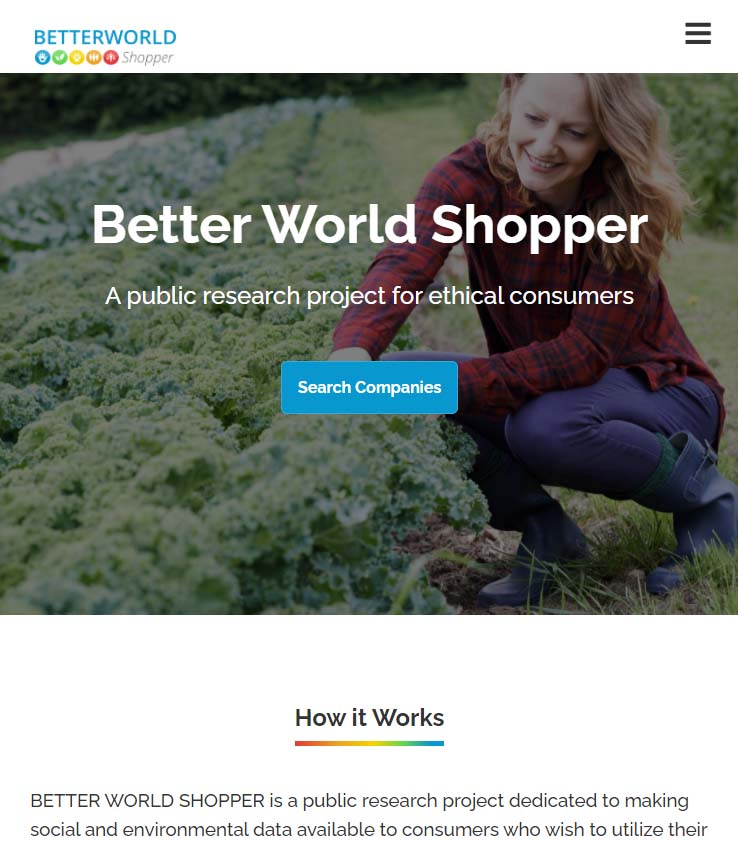 better world shopper database