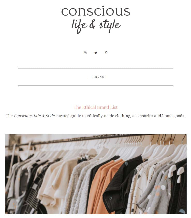 conscious life style ethical brands