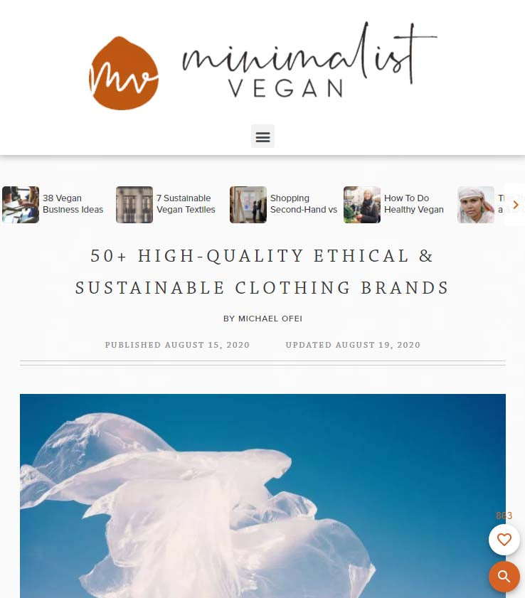 minimalist vegan sustainable clothing brands