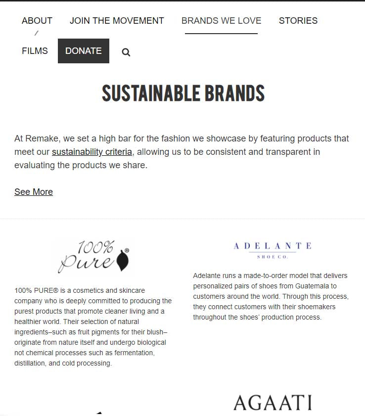 remake sustainable fashion