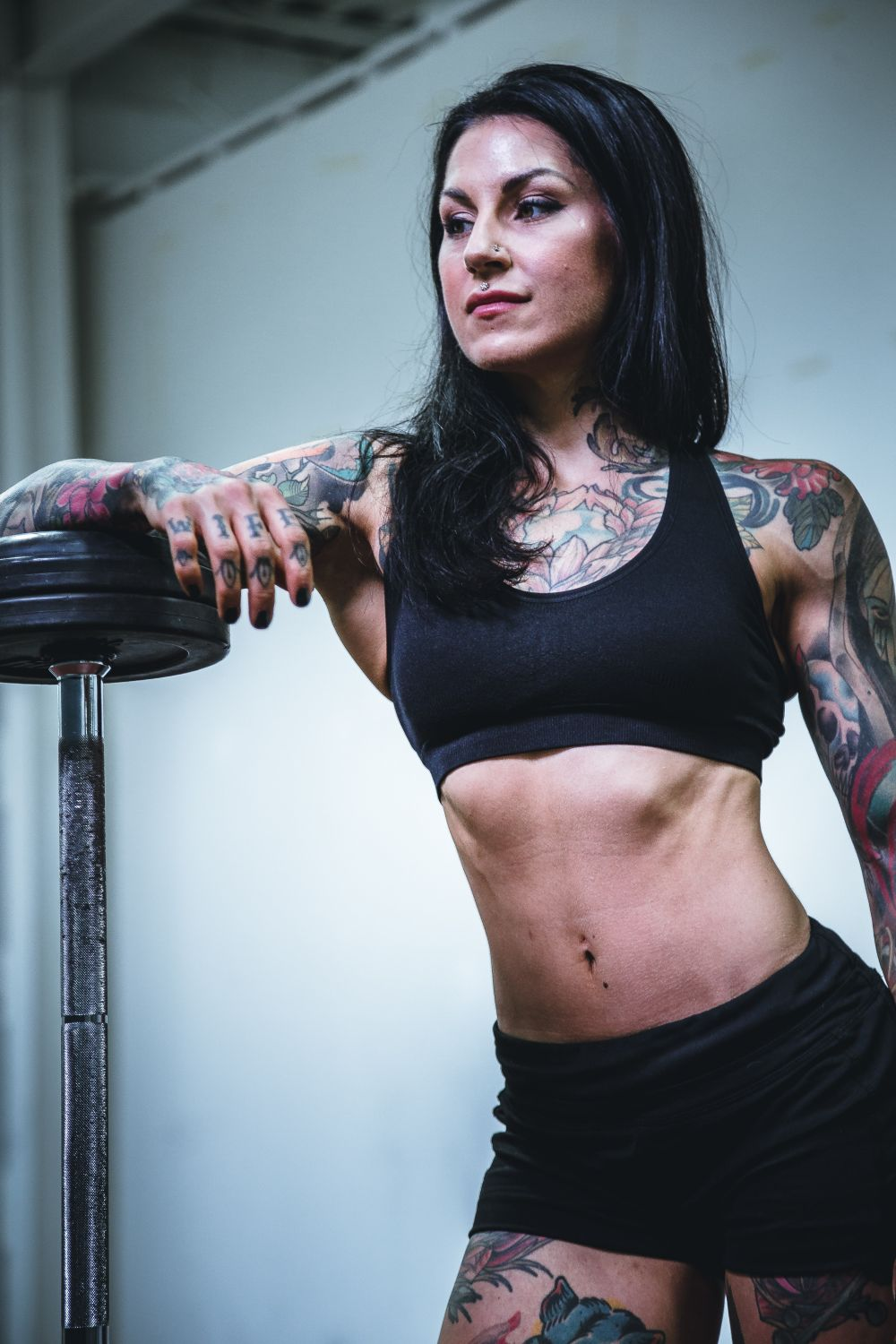 tattooed gym girl