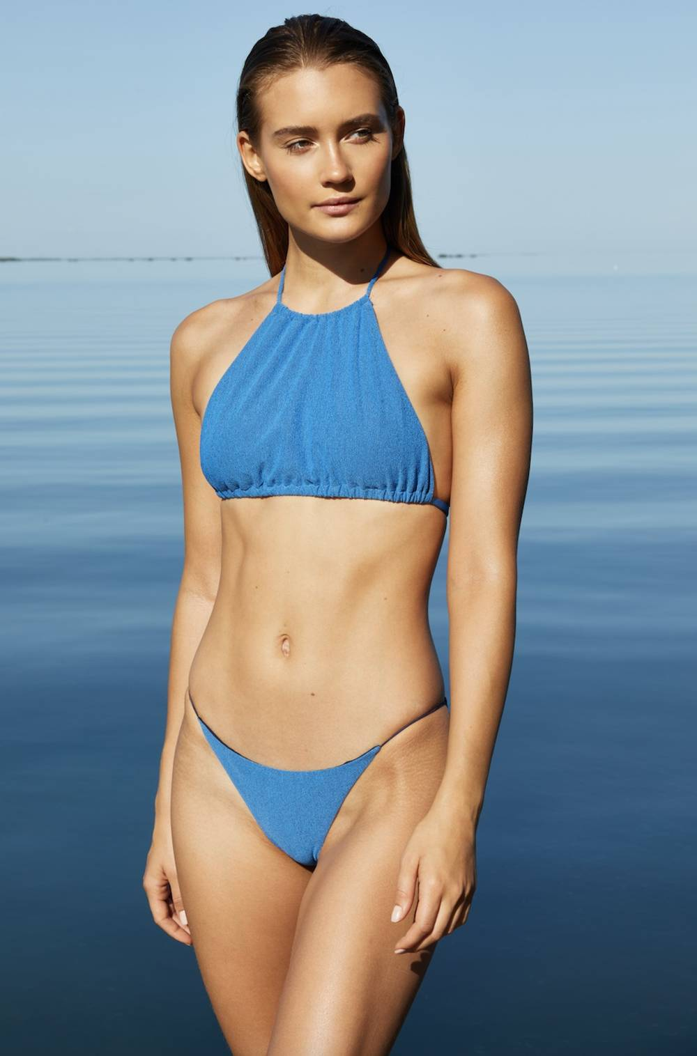 jade swim sustainable blue bikini