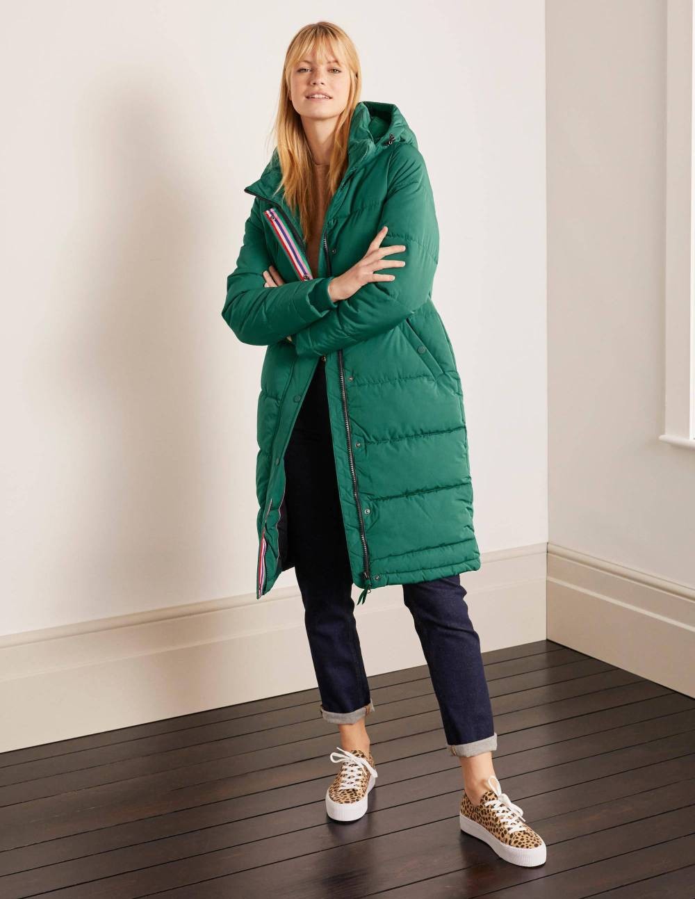 boden ethical fall green coat