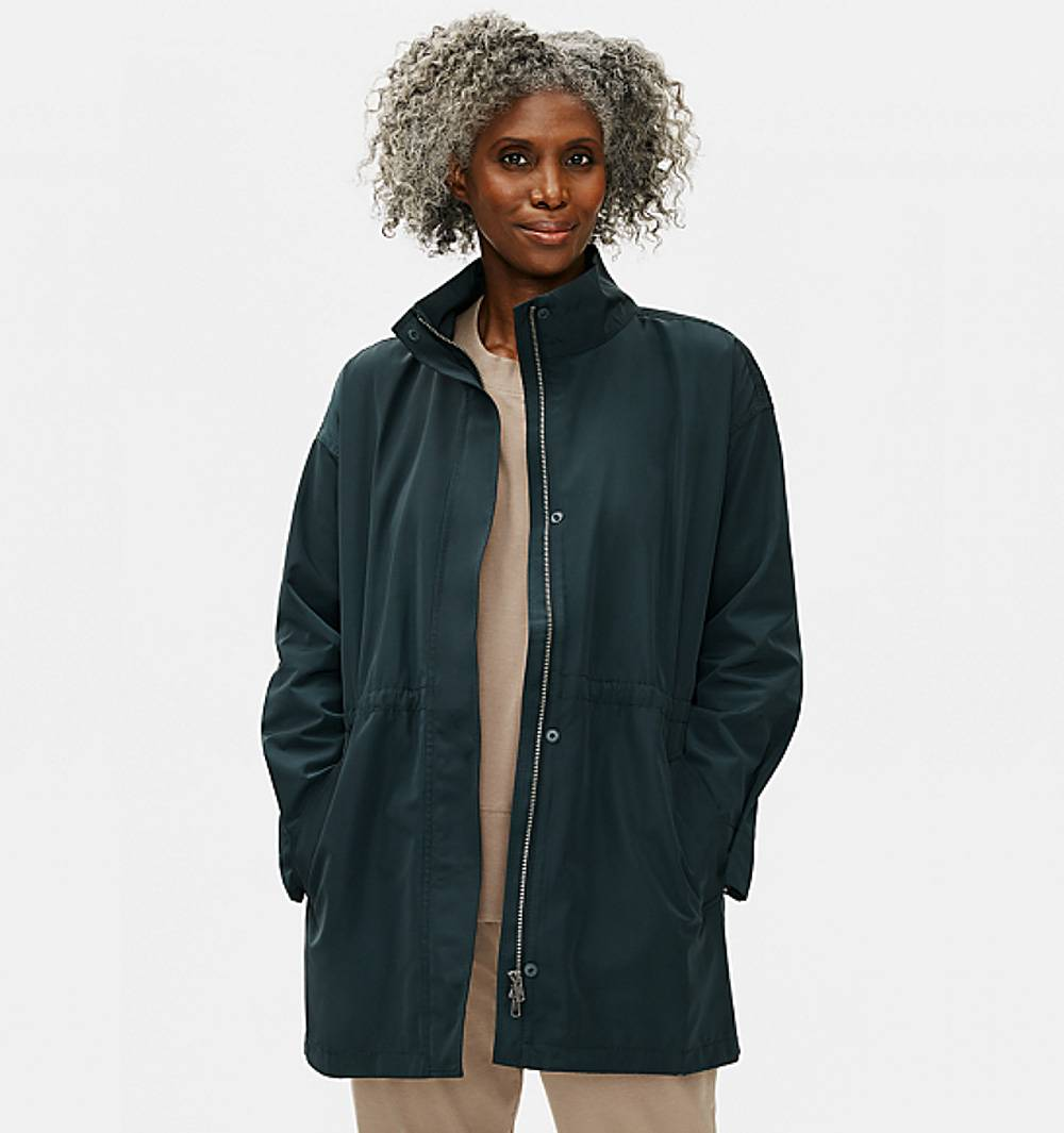 eileen fisher coat winter sustainable