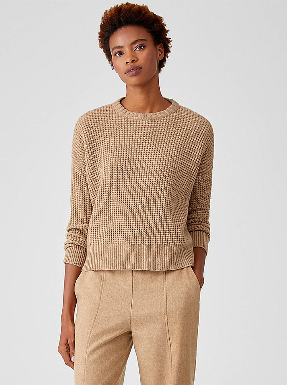 eileen fisher recycled cashmere pullover