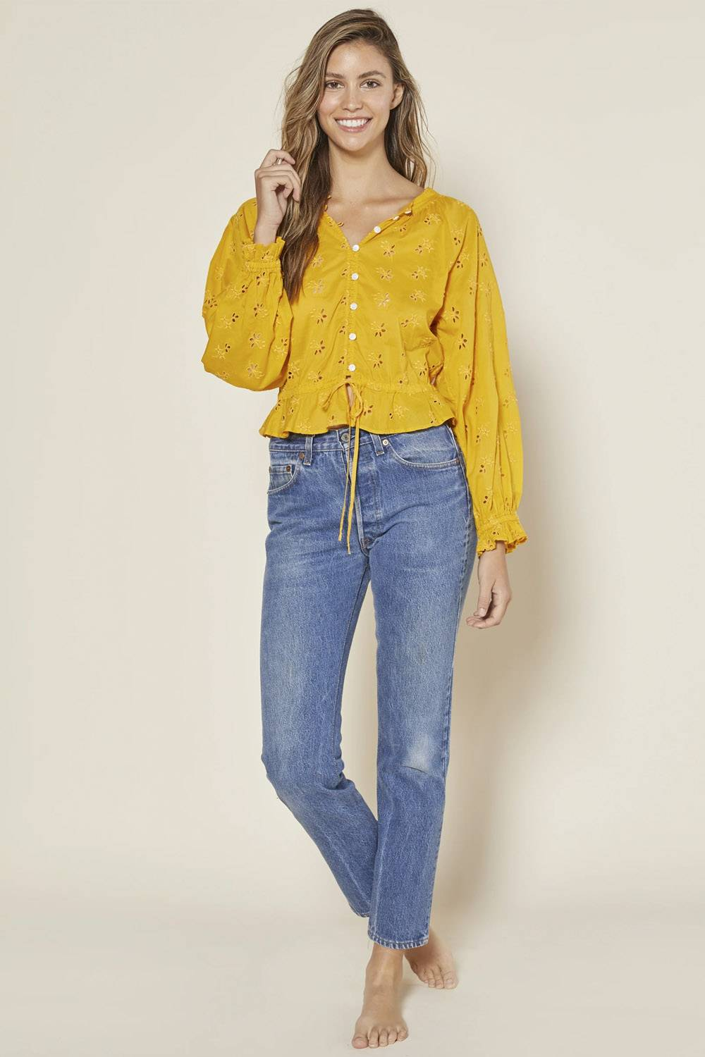 outerknown sustainable affordable blouse