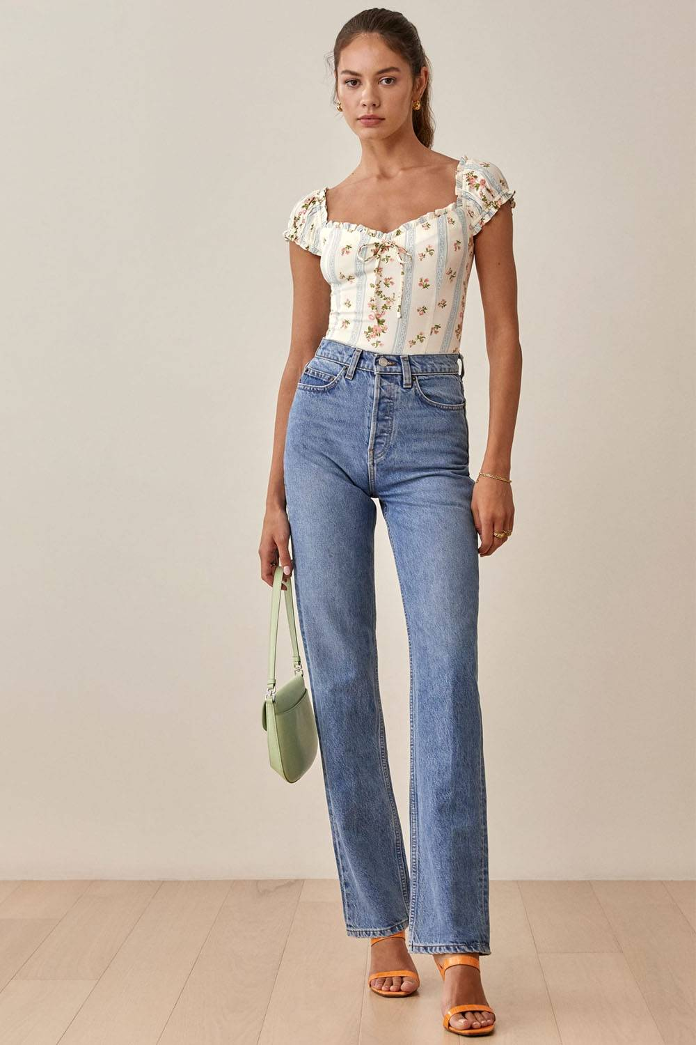 reformation cheap sustainable blouse