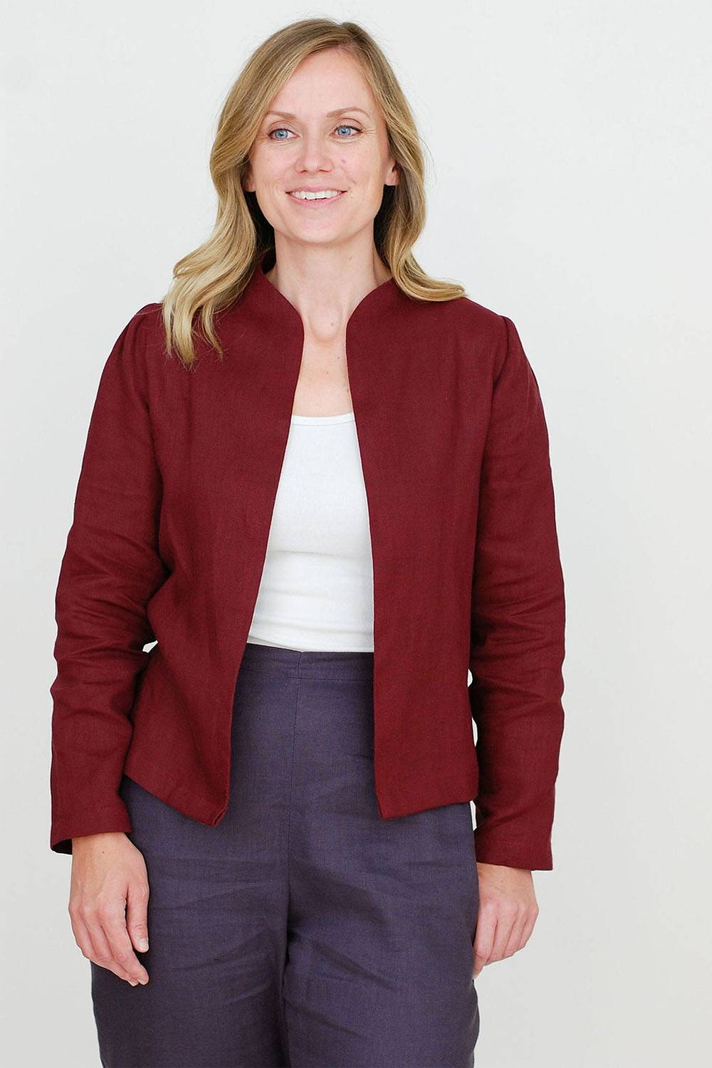 etsy linen jacket made in canada