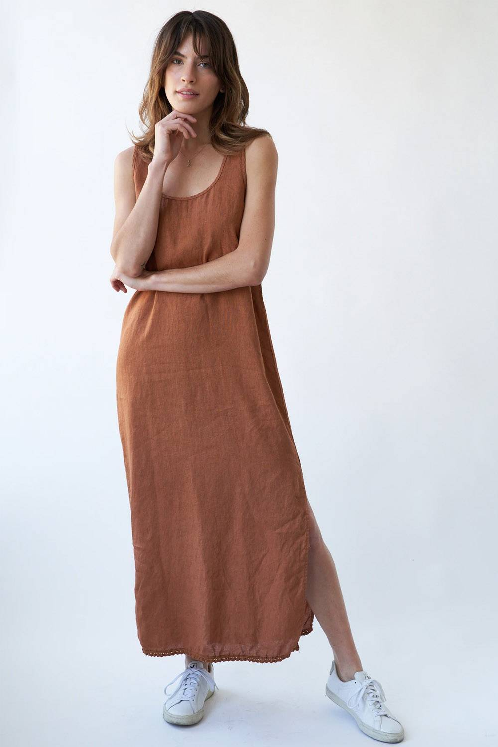 la relaxed affordable linen dress