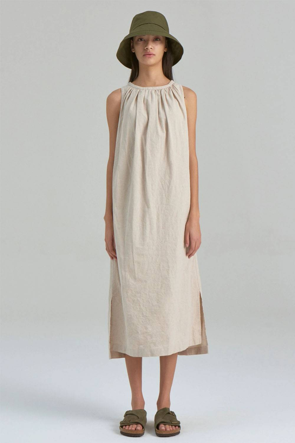 nau affordable sustainable linen dress