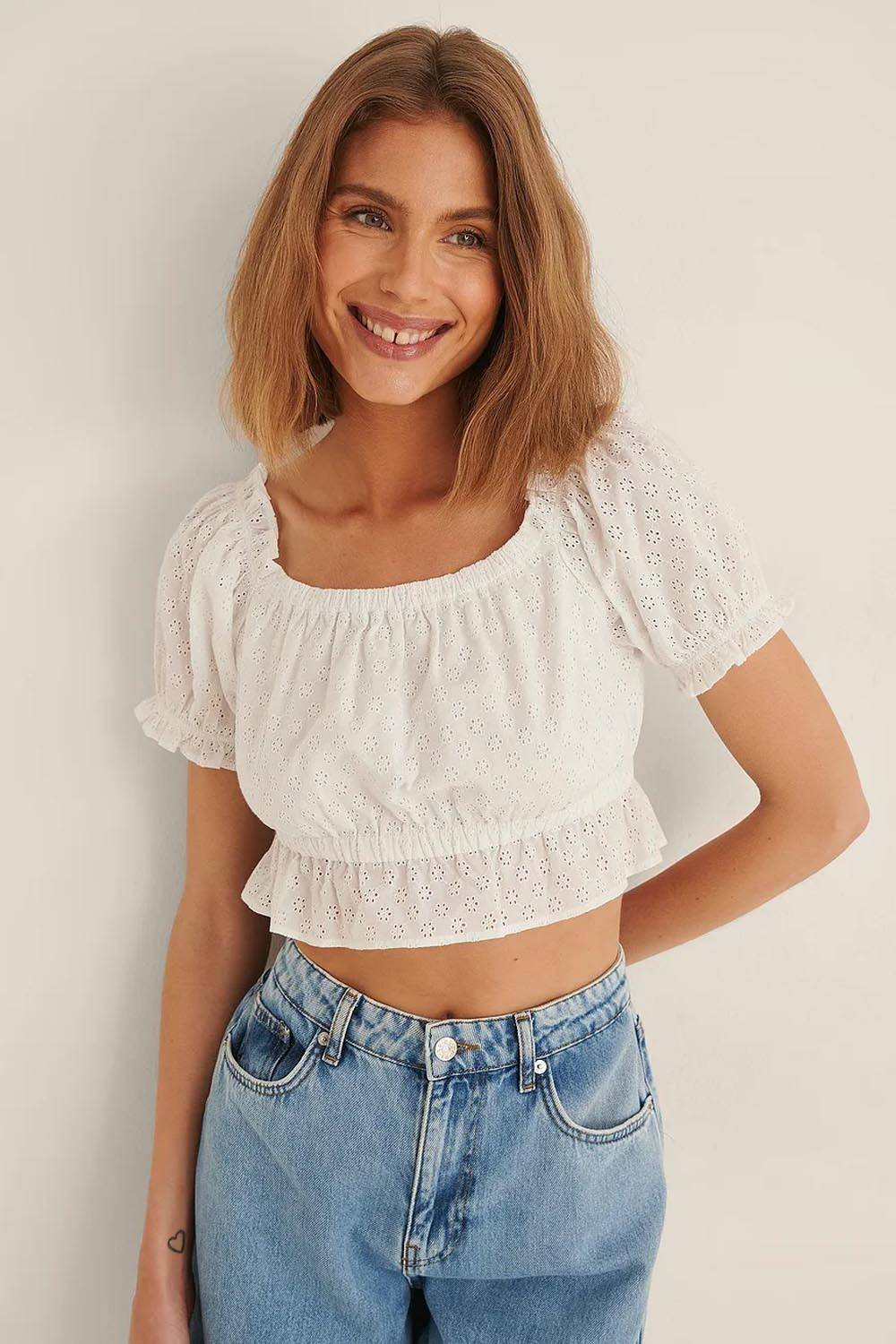 na-kd sustainable cropped top