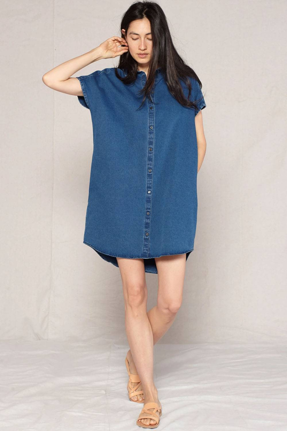 outerknown cheap ethical denim dress