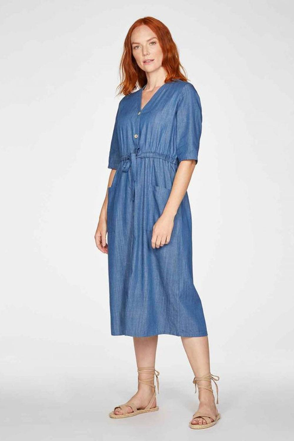 thought ethically made denim dress