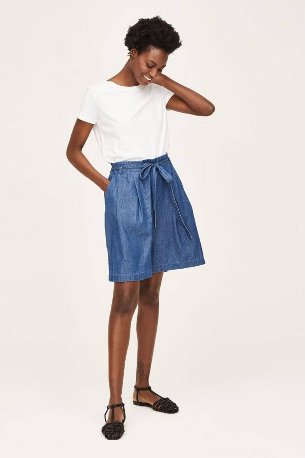 thought sustainable affordable denim shorts