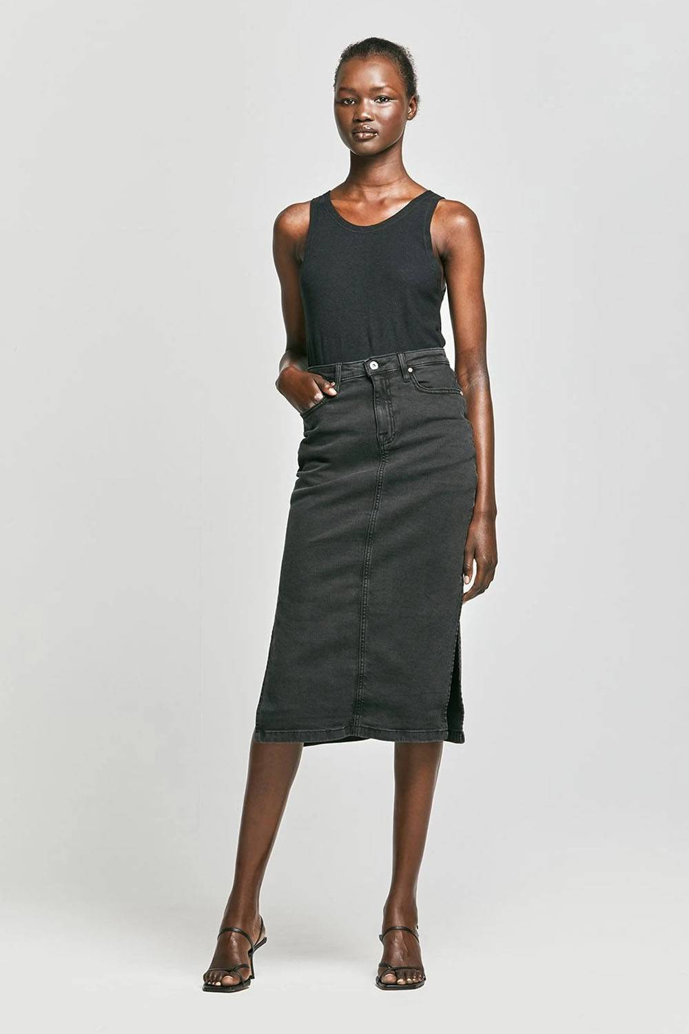 outland denim sustainable affordable skirt