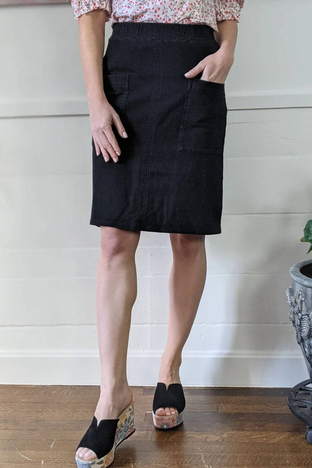 ash and rose pencil skirt