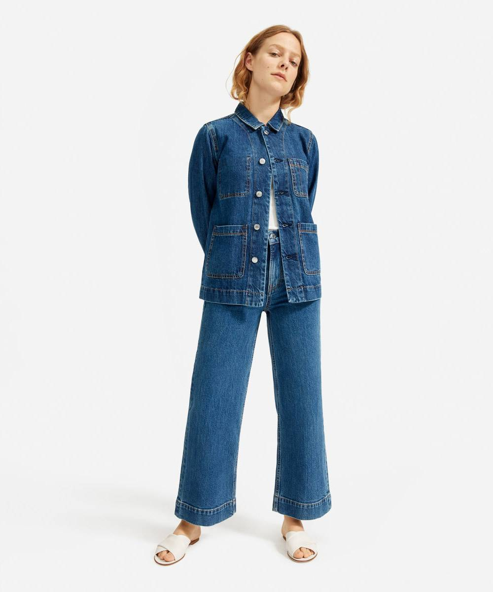 everlane cheap womens jean jackets