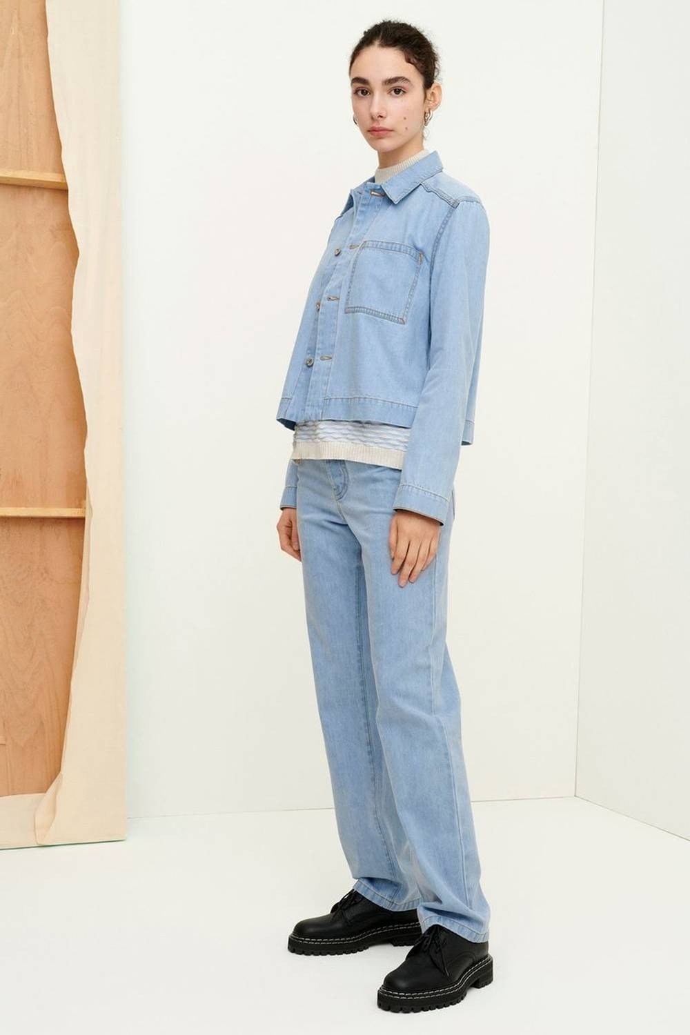 kowtow sustainable womens denim jackets
