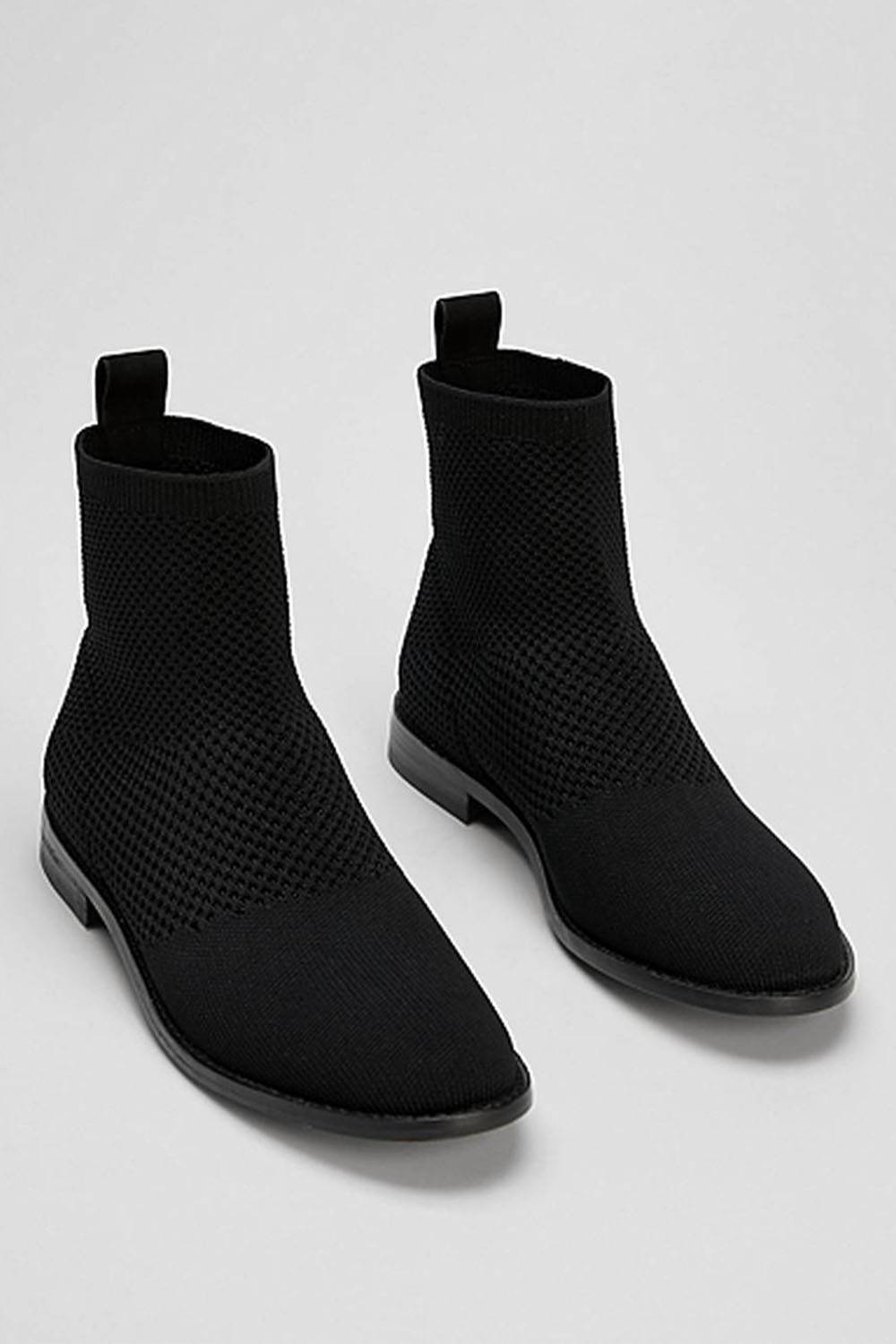 eileen fisher vegan leather boots