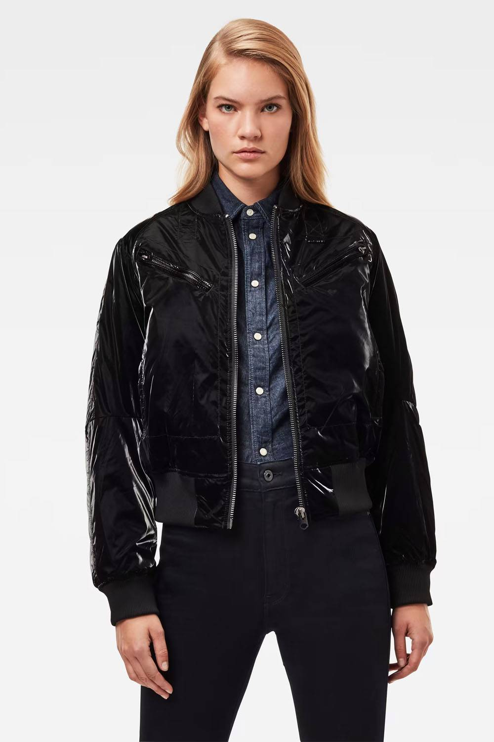g-star raw faux leather jacket