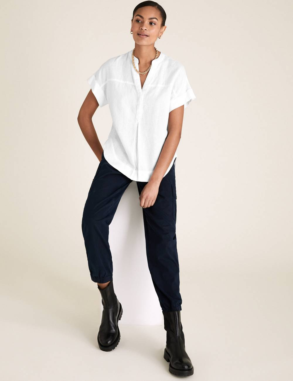marks and spencer european linen clothing