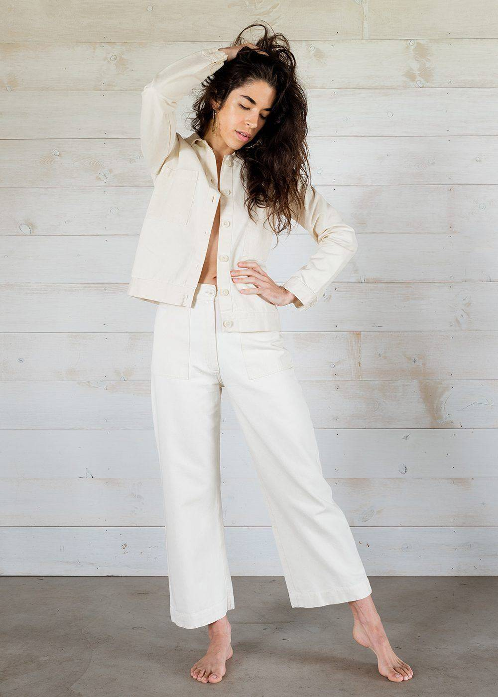 made trade white classic timeless jackets