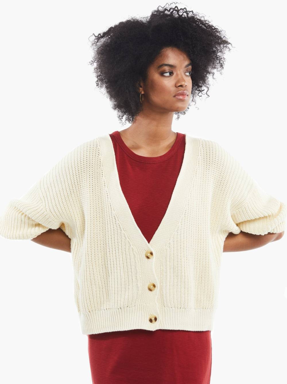 able sustainable affordable cardigan
