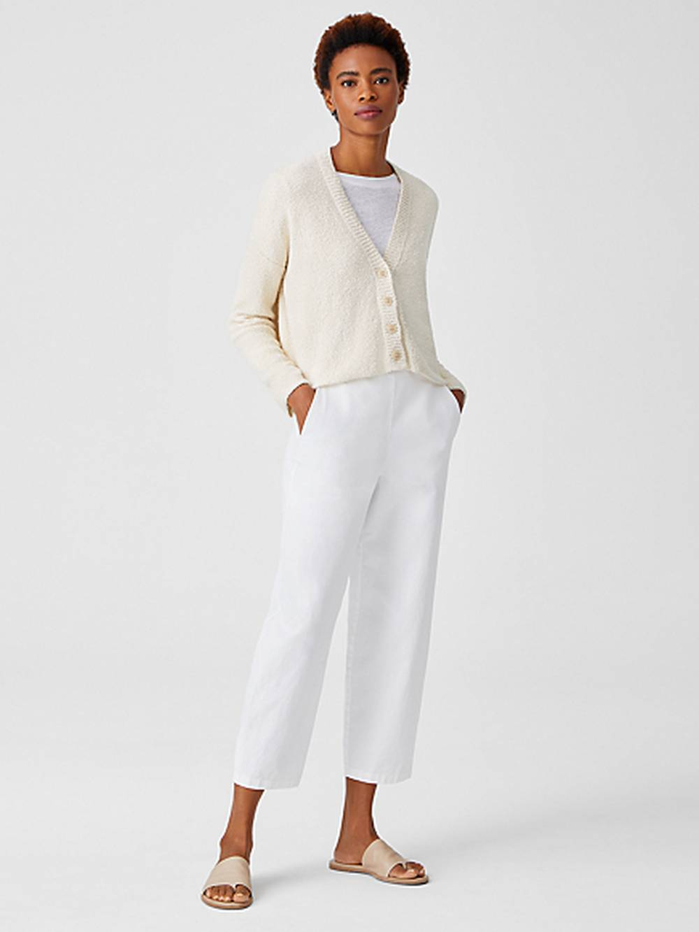 eileen fisher sustainable affordable cardigan