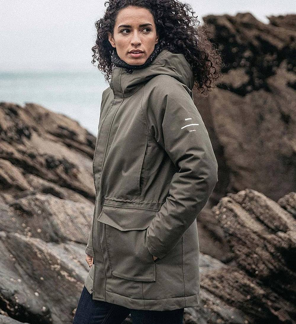 finisterre recycled winter parka coat