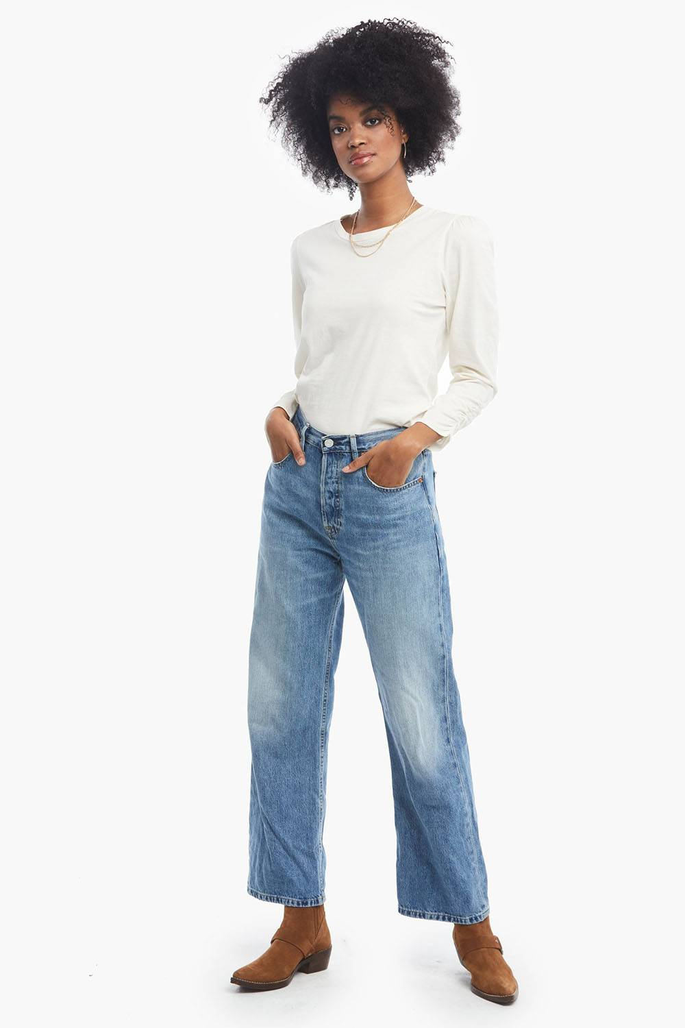 able sustainable lyocell denim jeans