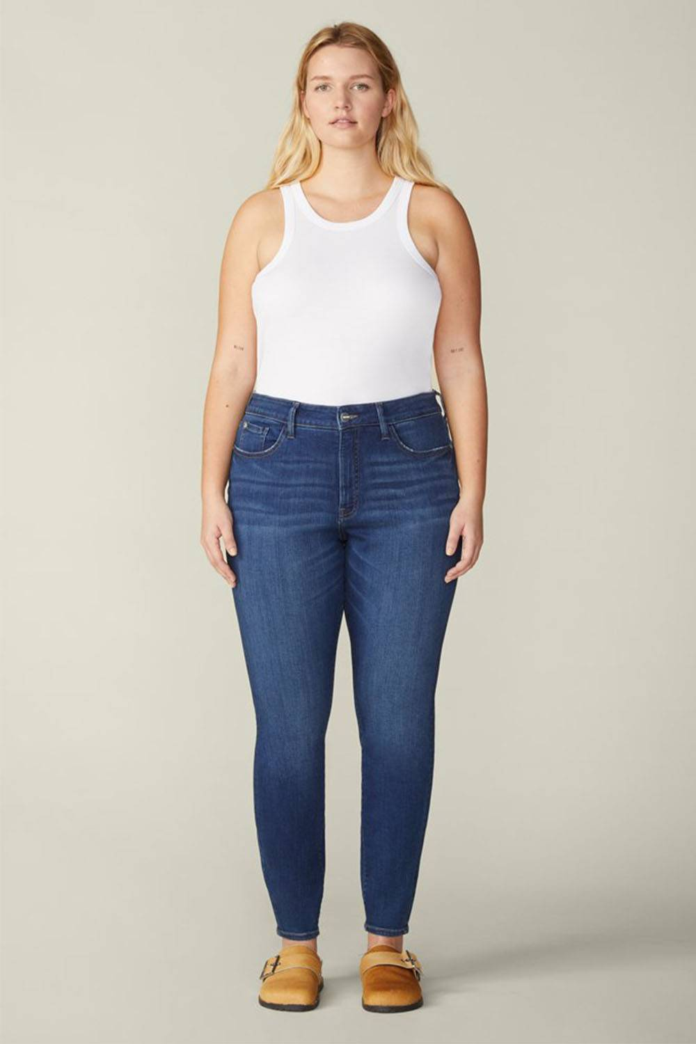 warp and heft lyocell jeans