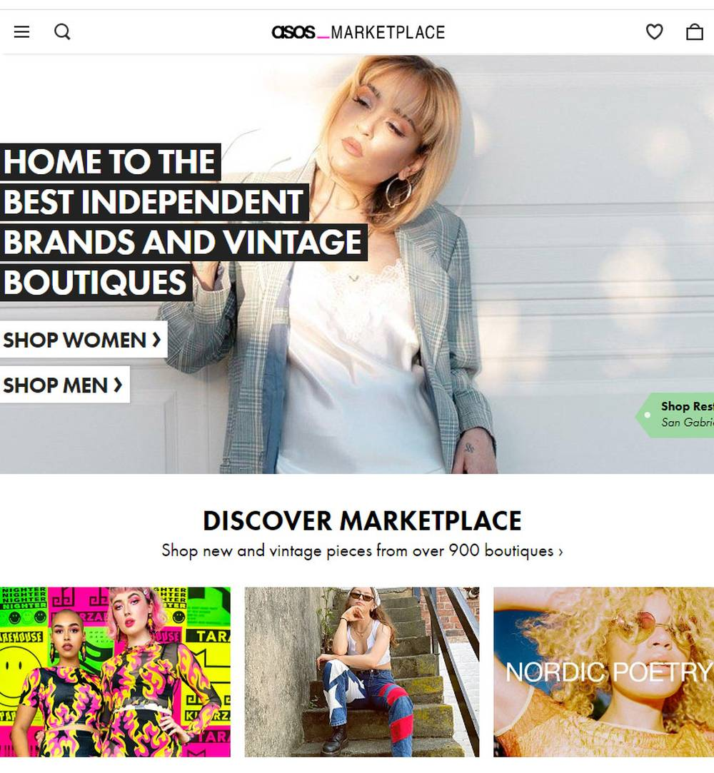 asos marketplace online thrift vintage