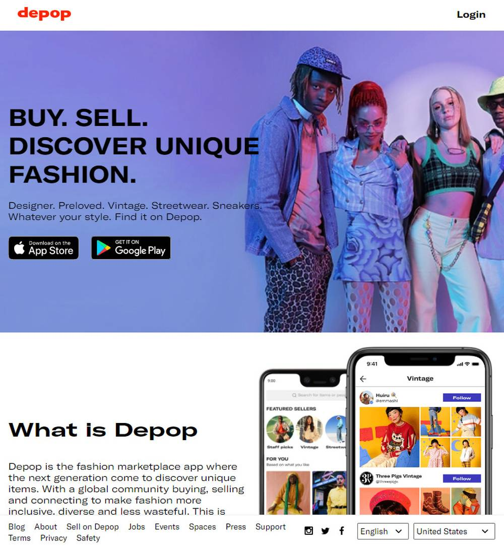 mobile resale app depop