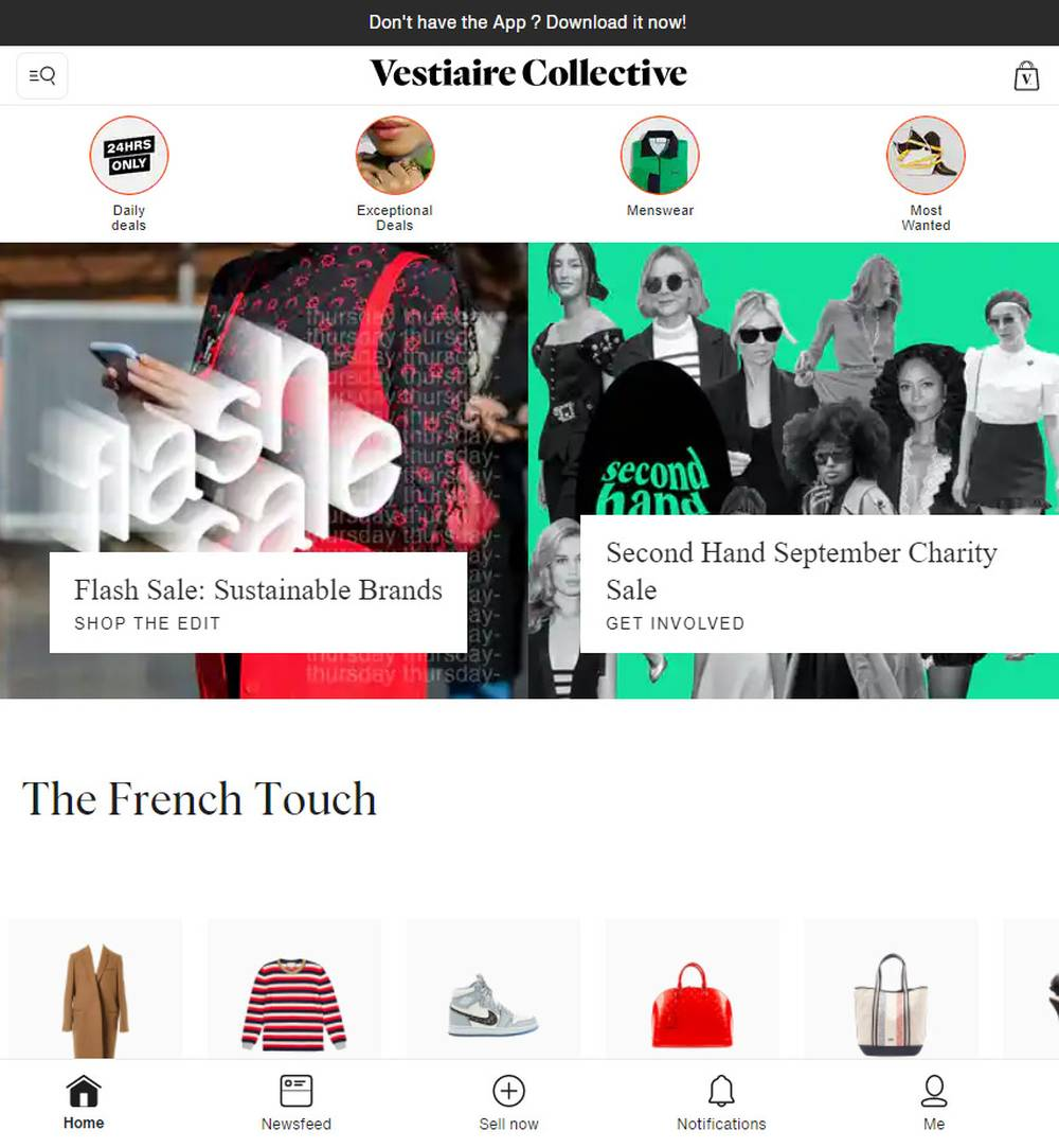 vestiaire collective designer resale shop