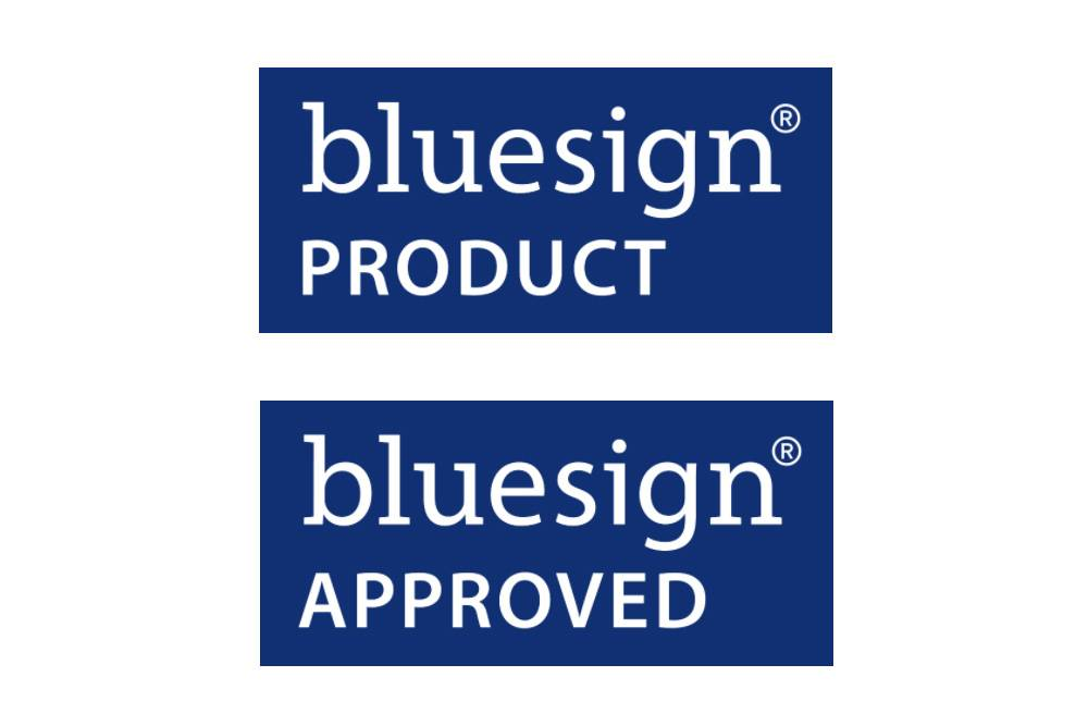 bluesign approved certified product label