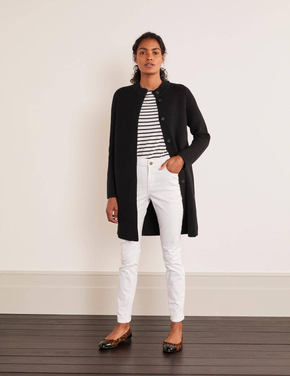 casual chic work outfit cardigan