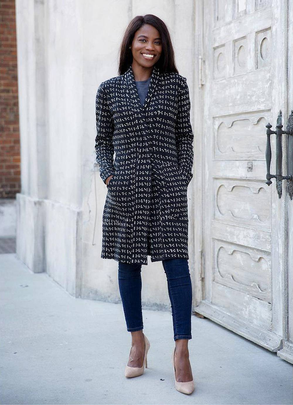 casual chic work clothing coat