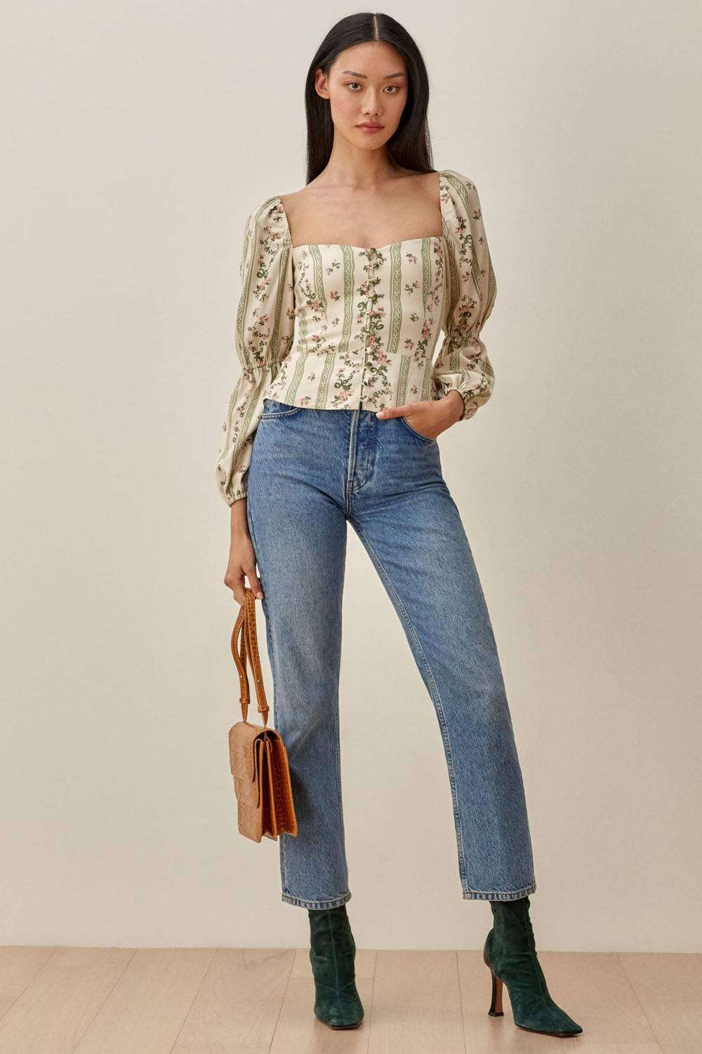reformation cheap cute jeans outfits