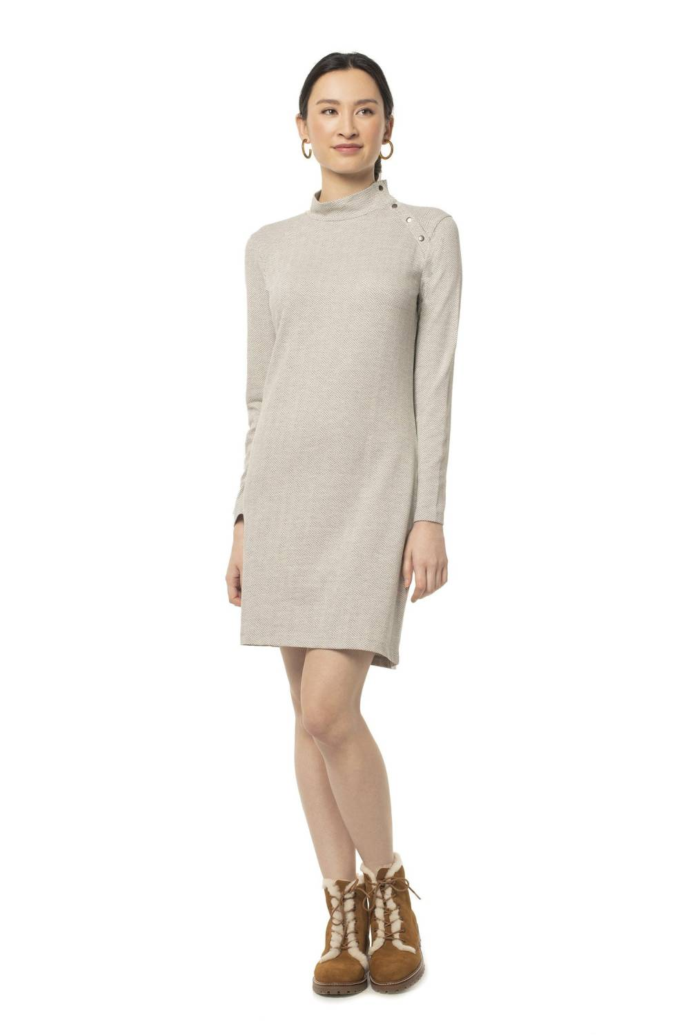 made trade sustainable affordable sweater dress