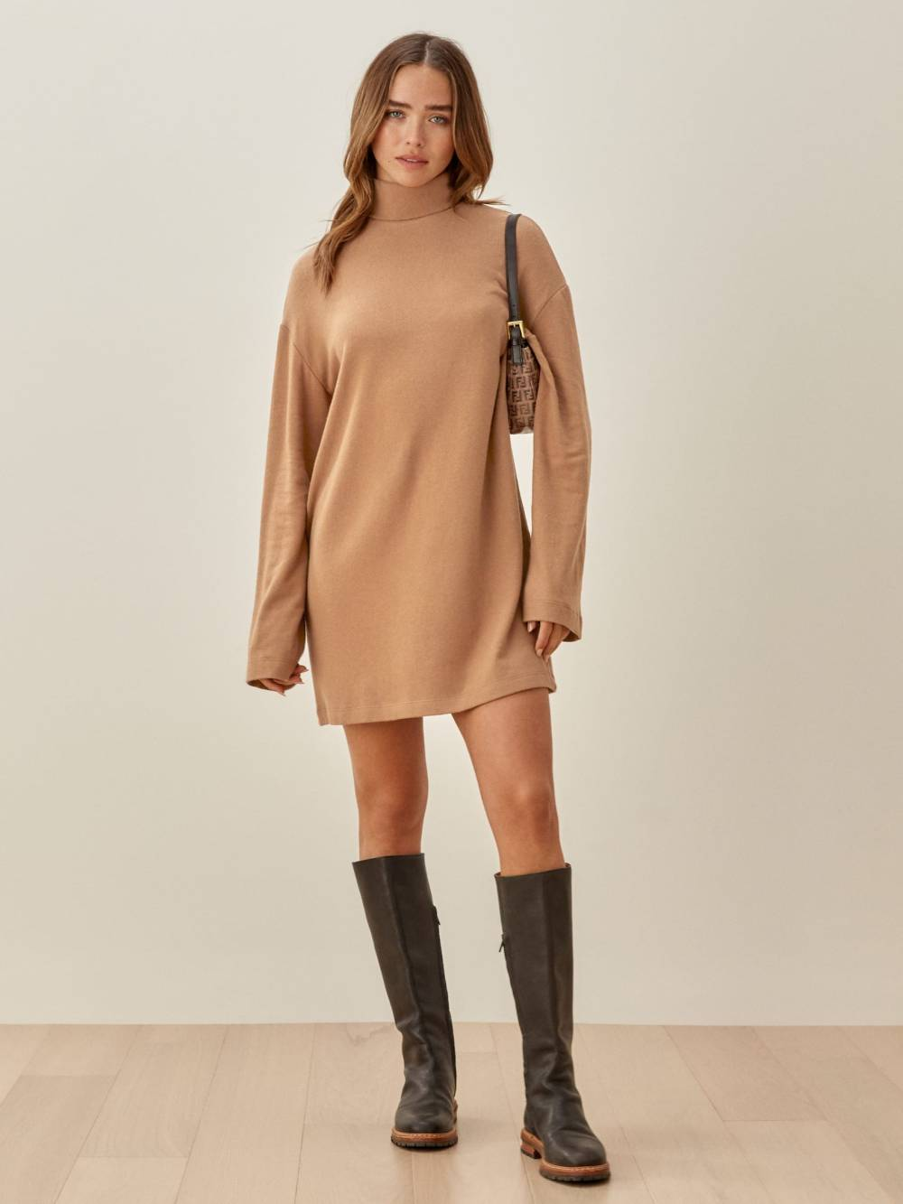 reformation affordable sustainable sweater dress