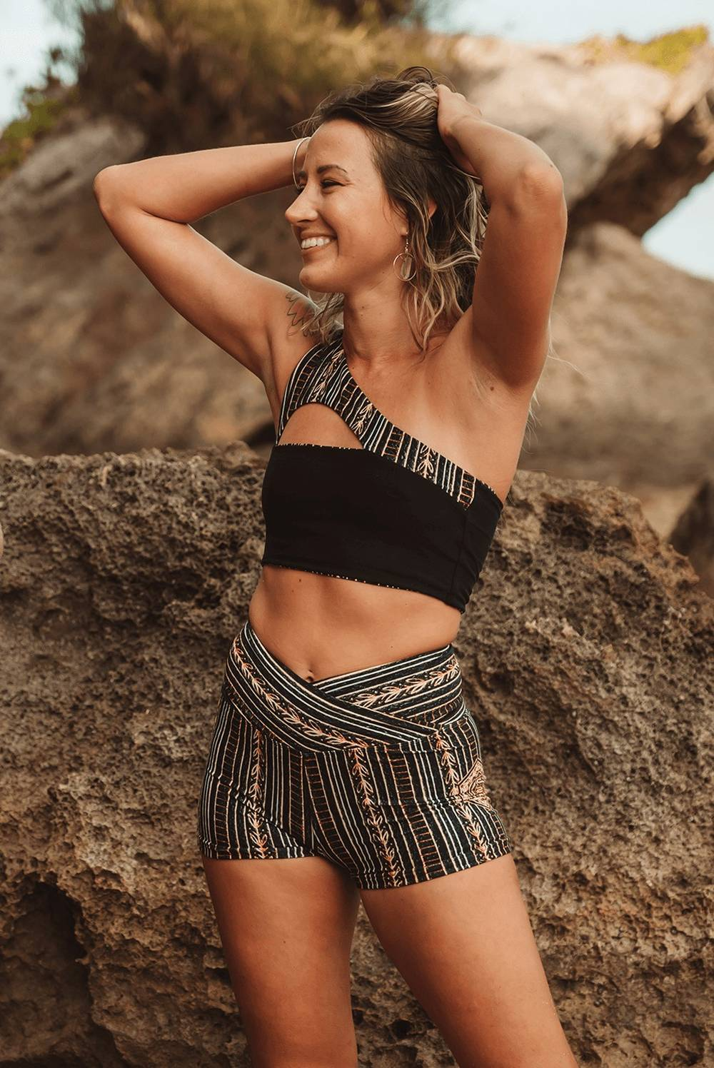 wolven eco-friendly workout shorts