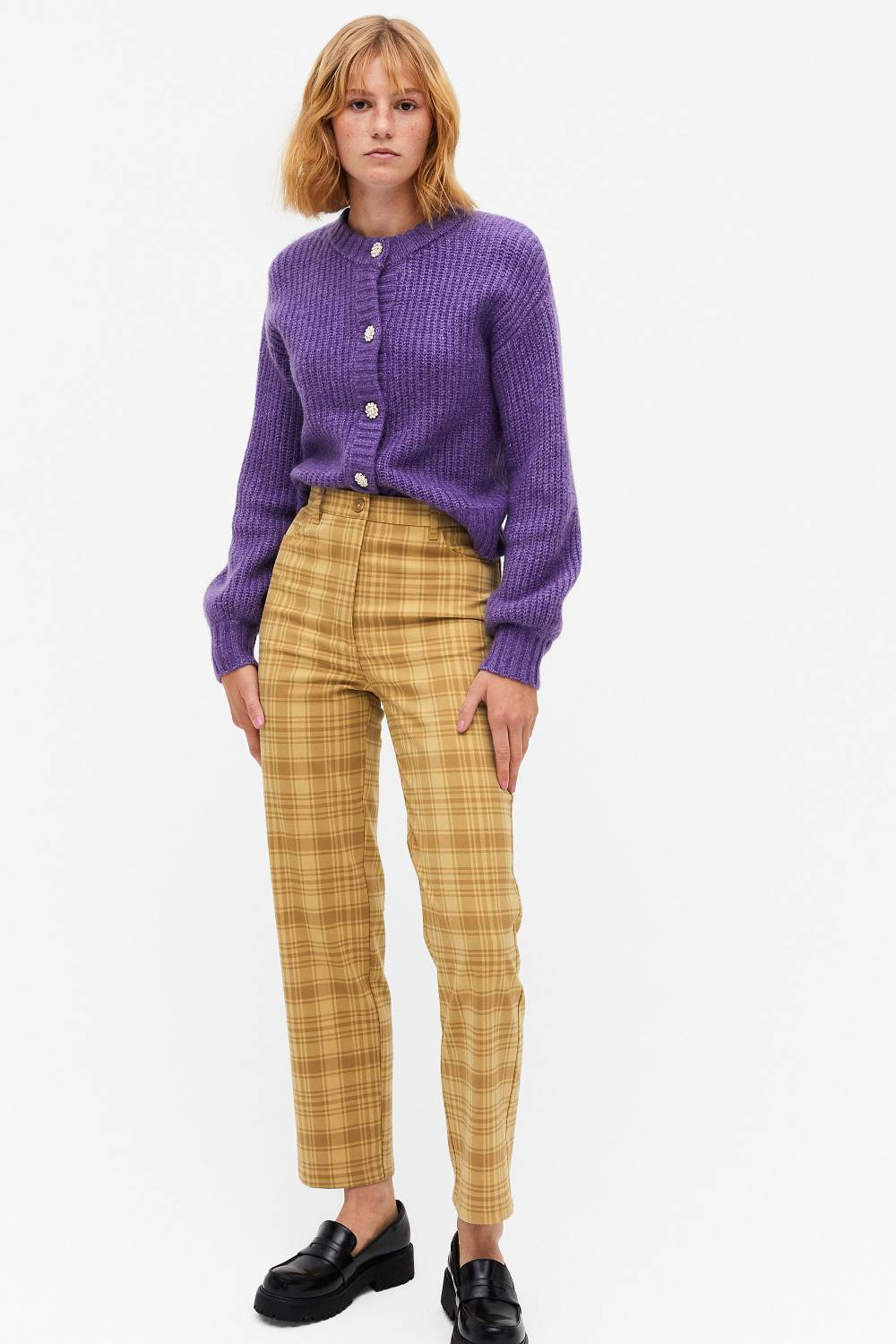 monki sustainable affordable patterned pants